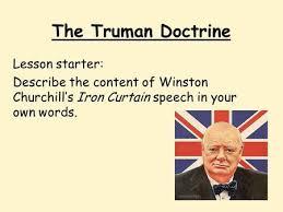 Winston Churchills Iron Curtain Speech Summary by Starter Activity Stick A Statement Describing How Communism Was