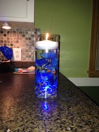 Michaels Christmas Trees Pre Lit by Blue Led Submersible Lights Clear Rocks Fake Flowers From