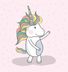 Beautiful Unicorn Dancing With Mane Long Vector