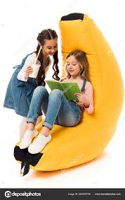 Two Smiling Kids Bean Bag Chair Reading Book White — Stock Photo ... Bean Bag Chairspagesepsitename Kids Bean Bags King Kahuna Beanbags Reading Lounge Chair Pink Target Bag Gardenloungechairs Thunderx3 Db5 Series Gaming Beanbag Cover Temple Webster Fascating Nook Ideas For Renohoodcom Hibagz Review Cheap Gamerchairsuk Chairs White Large Tough And Textured Outdoor Bags Tlmoda Giant Huge Extra Add A Little Kidfriendly Seating To Your Childs Bedroom Or