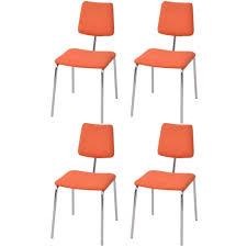 vidaxl 4x esszimmerstuhl orange stoff gitoparts