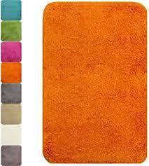 badezimmer vorleger matten badematte terra orange gelb