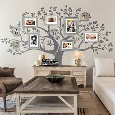 Amazing Rustic Living Room Wall Decor And Family Tree