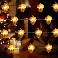 Halloween Decor Ideas Acorn String Lights Decorative Lights Wrcibo