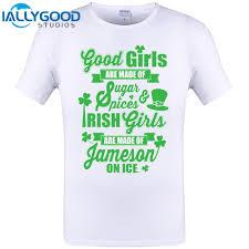 irish girls are made of jameson on ice cool nice letter design men