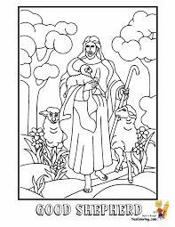 Coloring Sheet Of Jesus Good Shepherd