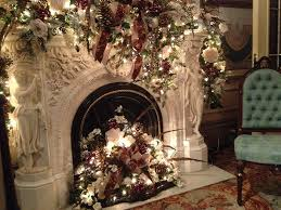 The Decorated Fireplace In Reception Room