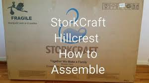 Storkcraft Dresser And Hutch by How To Assemble Storkcraft Crib Hillcrest Convertible Review Youtube