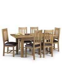 Hertford Solid Oak Extending Table Plus 6 Chairs
