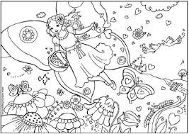 Hearts Coloring Pages On Valentine Fairy Colouring Page S Day