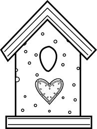 Birdhouse Coloring Page AZ Pages
