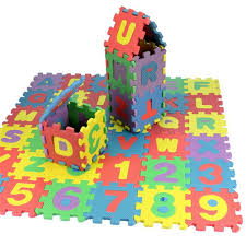 36 Piece Educational Foam Numbers Alphabet Play Mat Baby Toys US