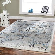 Amazon Premium Soft 8x11 Luxury Modern Rugs For Dining Rooms Cream Blue Beige Brown Ivory Floral Fashion 8x10 Bedroom Room