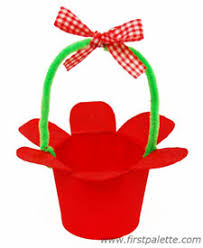 Paper Cup Flower Basket Craft