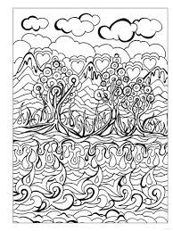 Creative Haven Dreamscapes Coloring Book Trees Water