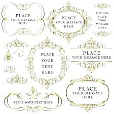Luxury Borders And Frames For Wedding Invitation For Gold Flourish