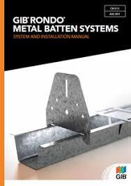 gib rondo metal batten systems gib