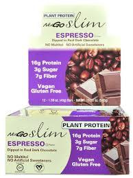 NuGo Nutrition NuGoR Slim Bars Gluten Free Espresso 12