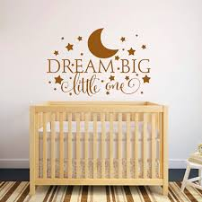 Dream Big Little e Quotes Wall Decal Nursery Wall Sticker Baby Nursery Bedroom Art Decor