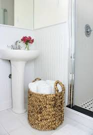 for bathrooms without linen closets store towels rolled up