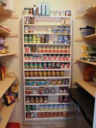 Add Closet Racks To Your Cabinets Display Canned Foods And See What You Have At A Glance I Must Say Thats An Amazing Can Storage Idea