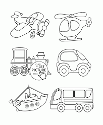 Transportation Coloring Page For Toddlers Pages Printables Free