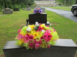 ideas for graveside decorations headstone saddle grave decoration gravestone saddle deco mesh