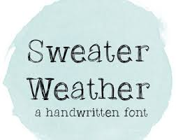 Digital Font Download Handwritten For Commercial Use Chalkboard MRF Sweater Weather