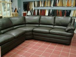 Green Leather Sofa Awesome Design Exciting Sectional