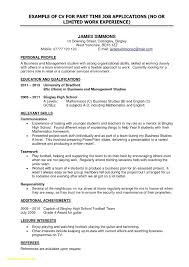 100 Example Of High School Resume For Student First Job Math First Time Job