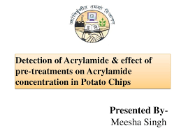 Detection Of Acrylamide Effect Pre Treatments On Con