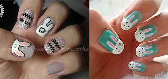 Easy Easter Bunny Nail Art Designs Ideas 2014 For Beginners