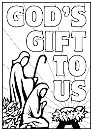 Nativity Coloring Pages Free Printable Archives Christmas Scene Story