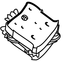 cheese sandwich clipart