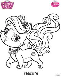 Princess Palace Pets Treasure Coloring Page By SKGaleana