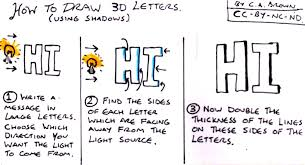How To Draw 3D Letters Using Shadows  PekoeBlaze the official