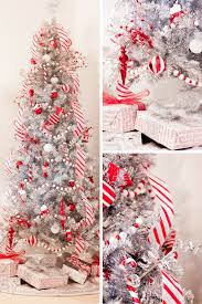 Candy Cane Christmas Tree Silver Peppermint