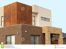 100 Contemporary Architecture Homes Modern Exterior Details Double Story Stock Image