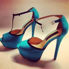 turquoise suede high heels pictures photos and images for