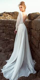 15 Rustic Wedding Dresses To Be A Charming Bride Simple Line Open Back