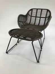 details zu loungesessel hocker sessel stuhl wohnzimmer esszimmer rattan metall lounge neu