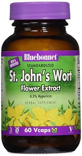 BlueBonnet St. john's Wort Flower Extract Supplement - 60 Vegetarian Capsules