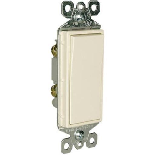 Pass and Seymour Lighted Single Pole Decorator Light Switch - 15 Amp, 120V