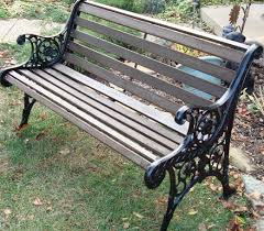 diy how to restore a cast iron and wood garden bench dengarden
