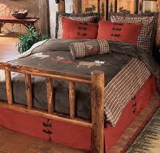Moose Plaid Bedding Rustic