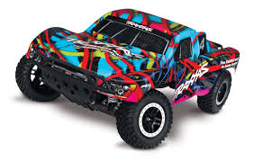 100 Slash Rc Truck Traxxas 580764T2 VXL 110 RTR 2WD Short Course Hawaiian