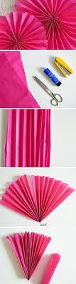 Wall Decoration Ideas With Crepe Paper How To Make Swirl Hanging