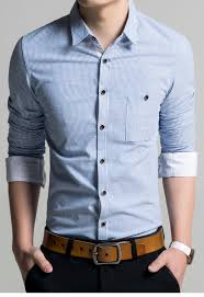best dear lover striped roll up sleeves male shirt lc14011