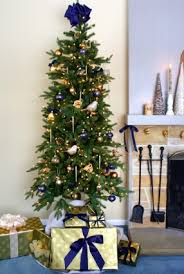 The Kennedy Fir With Its Sparkling Blue And Gold Christmas Decorations Is A Sight