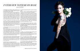 RUBY ROSE INTERVIEW FASHION STORY